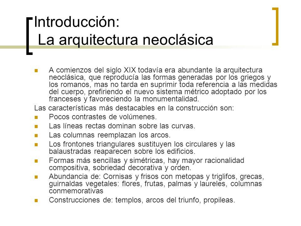 Introducción: La arquitectura neoclásica