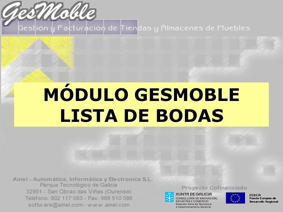 MÓDULO GESMOBLE LISTA DE BODAS