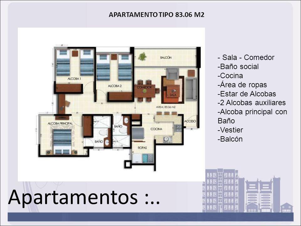 Apartamentos :.. APARTAMENTO TIPO 83.06 M2 - Sala - Comedor