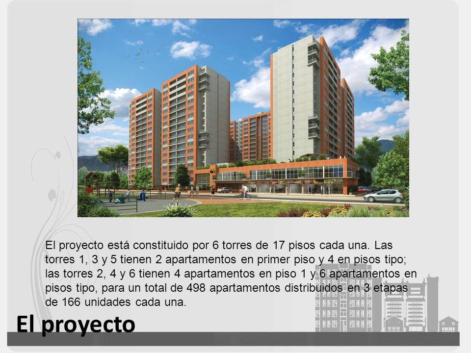 El proyecto está constituido por 6 torres de 17 pisos cada una