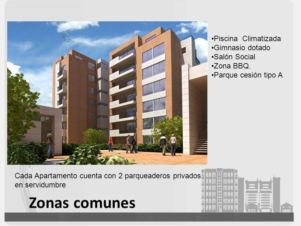 Zonas comunes Piscina Climatizada Gimnasio dotado Salón Social