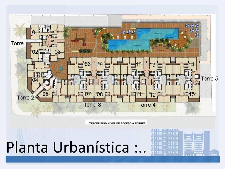 Planta Urbanística :.. 01 Torre 1 02 03 06 09 10 13 14 Torre 5 04 05
