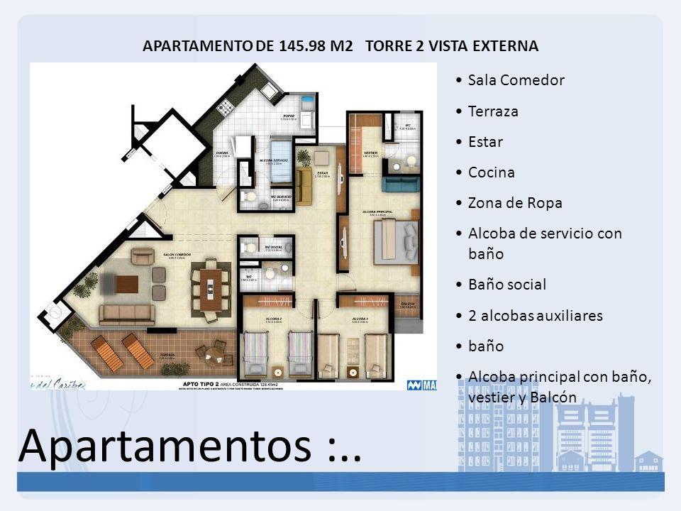 APARTAMENTO DE 145.98 M2 TORRE 2 VISTA EXTERNA