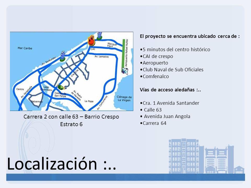 Carrera 2 con calle 63 – Barrio Crespo