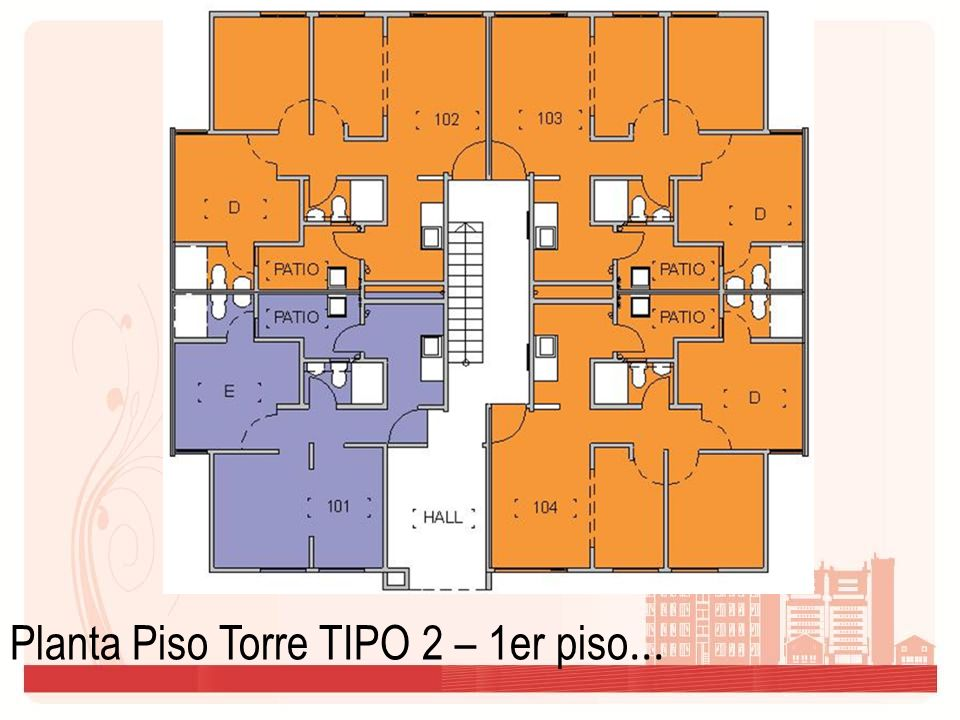 Planta Piso Torre TIPO 2 – 1er piso...