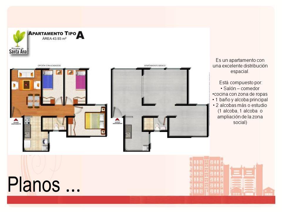 Planos ... Es un apartamento con una excelente distribución espacial.