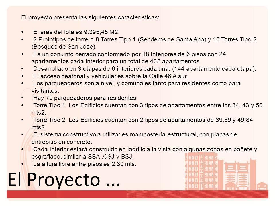 El Proyecto ... El proyecto presenta las siguientes características: