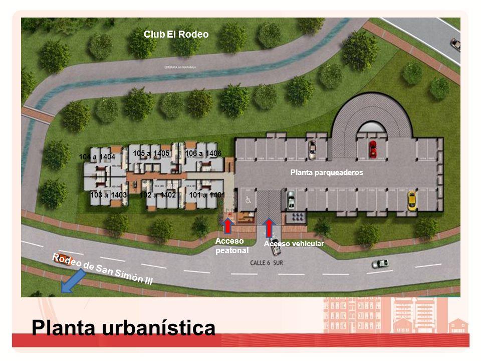 Planta urbanística Club El Rodeo Rodeo de San Simón III Acceso