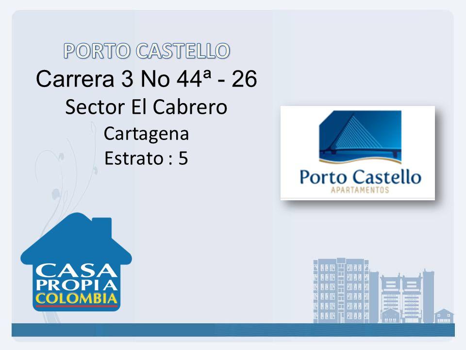 PORTO CASTELLO Carrera 3 No 44ª - 26 Sector El Cabrero Cartagena