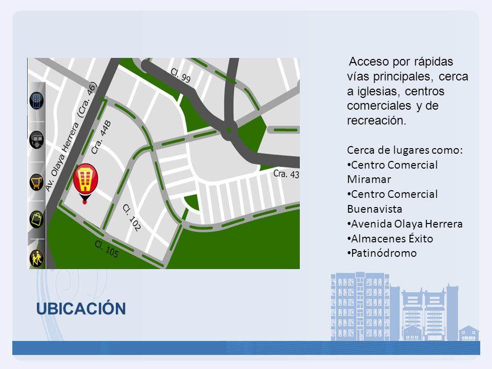 UBICACIÓN Cerca de lugares como: Centro Comercial Miramar