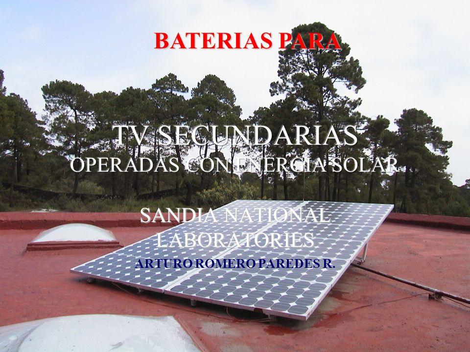 TV SECUNDARIAS OPERADAS CON ENERGIA SOLAR