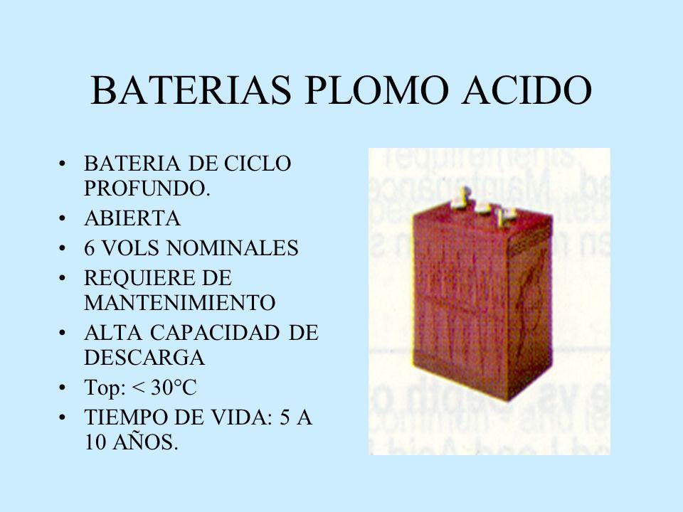 BATERIAS PLOMO ACIDO BATERIA DE CICLO PROFUNDO. ABIERTA
