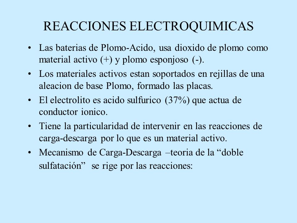 REACCIONES ELECTROQUIMICAS