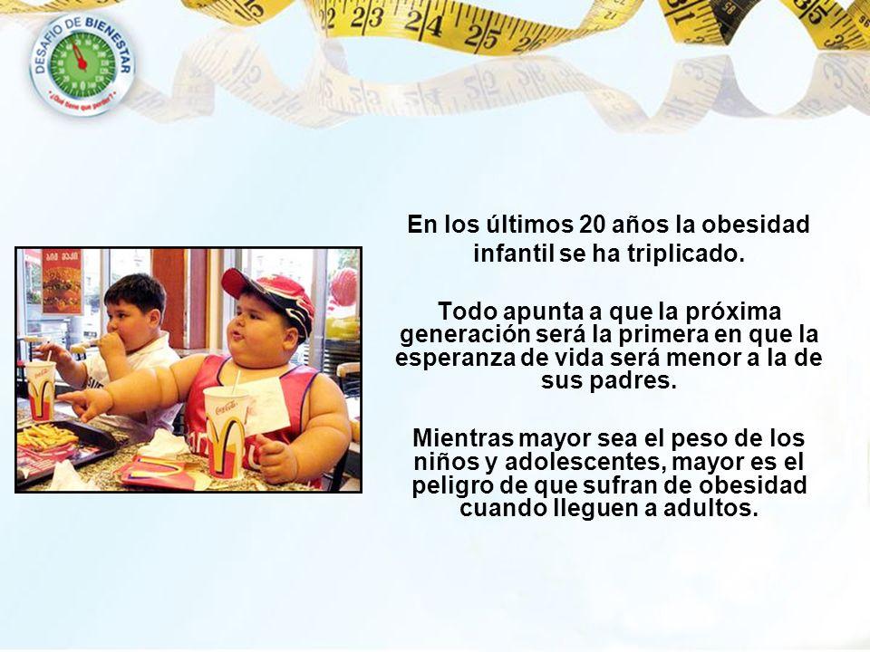 En los últimos 20 años la obesidad infantil se ha triplicado.