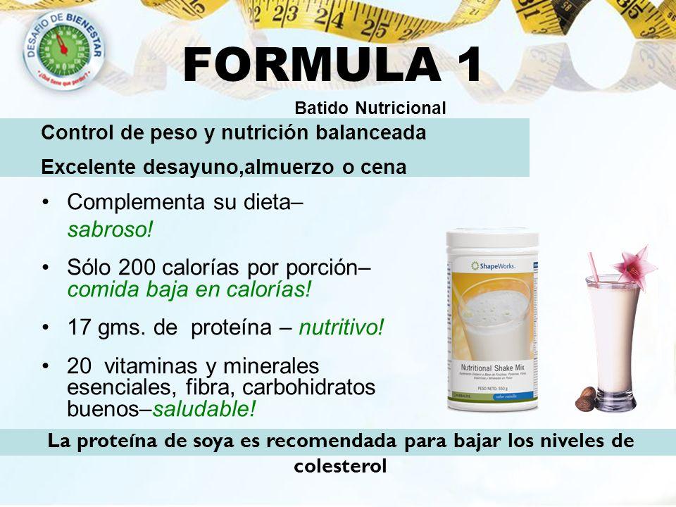 FORMULA 1 Complementa su dieta– sabroso!