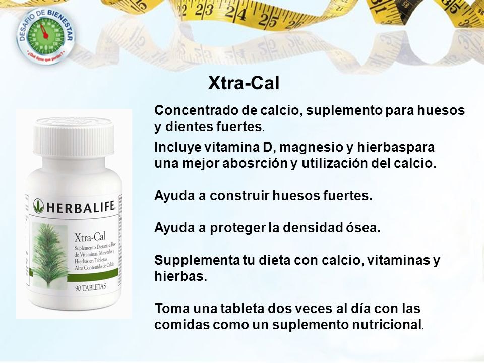 Xtra-Cal Concentrado de calcio, suplemento para huesos y dientes fuertes.