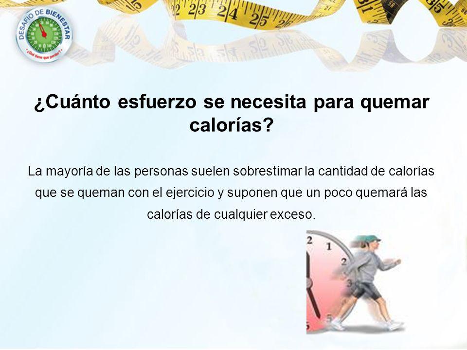 ¿Cuánto esfuerzo se necesita para quemar calorías