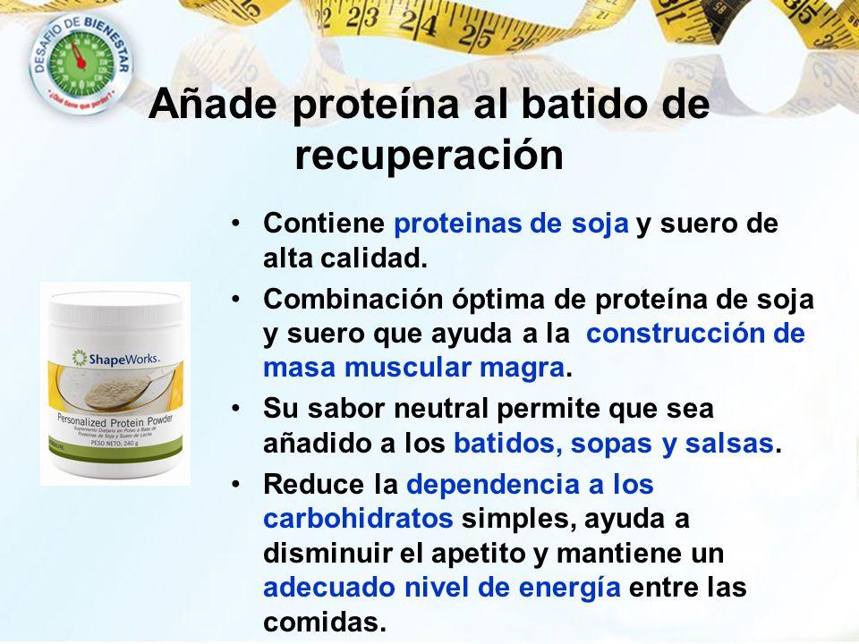 Añade proteína al batido de recuperación