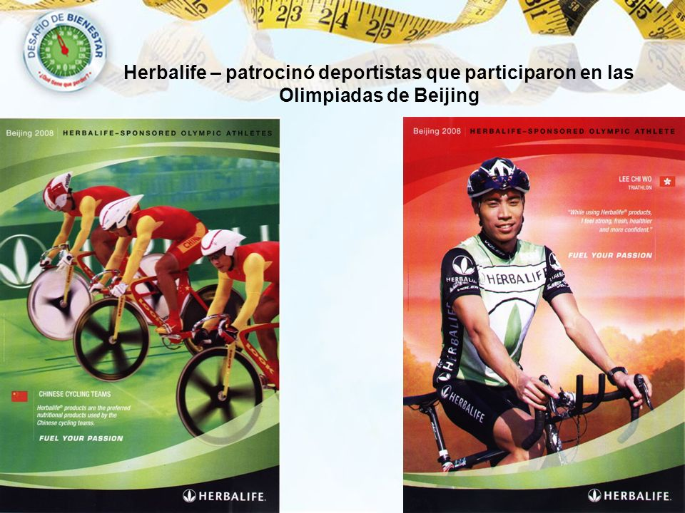 Herbalife – patrocinó deportistas que participaron en las Olimpiadas de Beijing