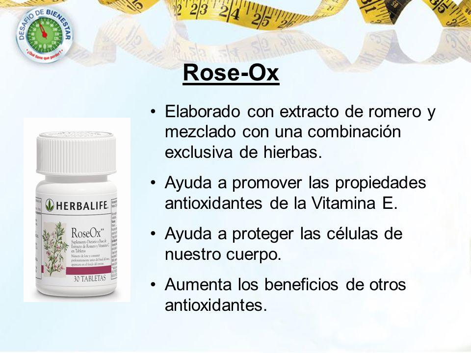 Rose-Ox Elaborado con extracto de romero y mezclado con una combinación exclusiva de hierbas.