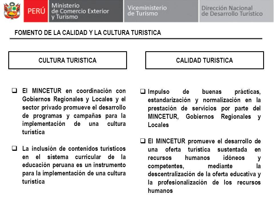FOMENTO DE LA CALIDAD Y LA CULTURA TURISTICA