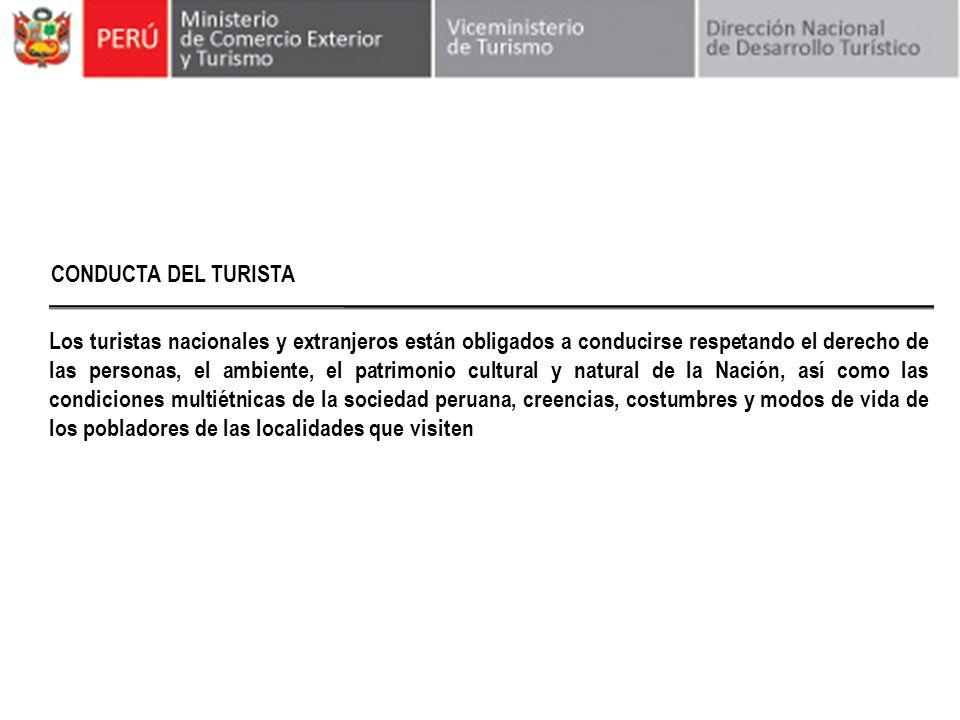 CONDUCTA DEL TURISTA