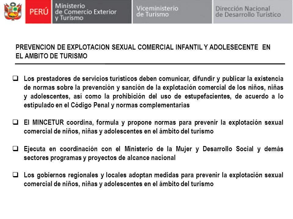 PREVENCION DE EXPLOTACION SEXUAL COMERCIAL INFANTIL Y ADOLESECENTE EN EL AMBITO DE TURISMO