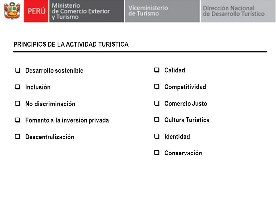 PRINCIPIOS DE LA ACTIVIDAD TURISTICA