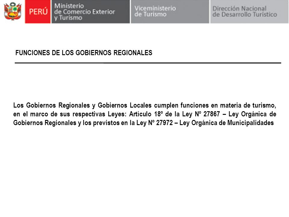 FUNCIONES DE LOS GOBIERNOS REGIONALES