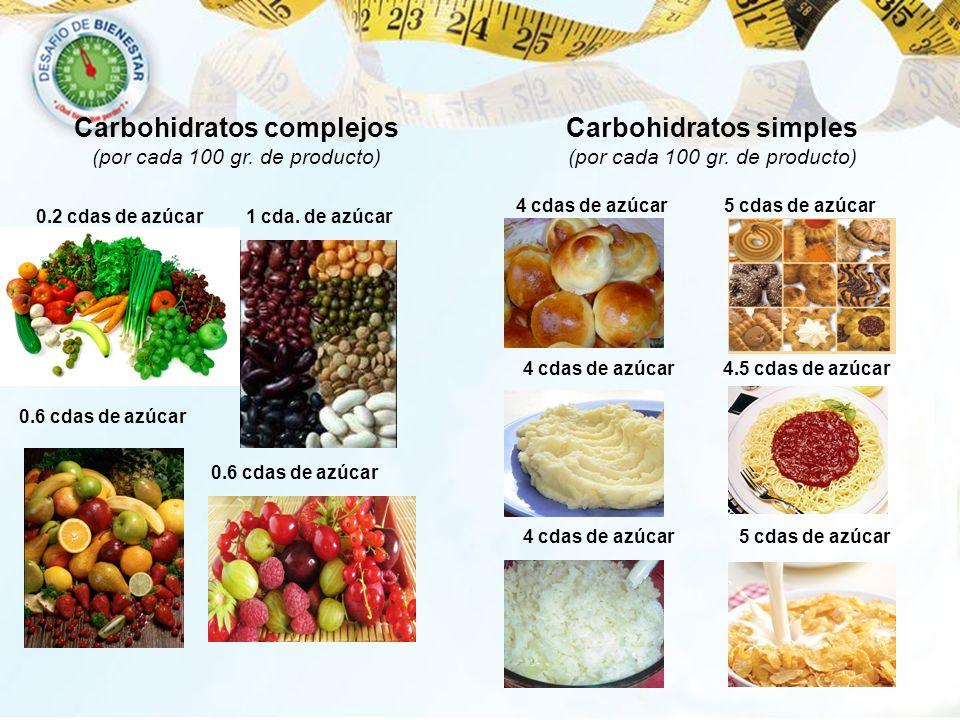 Carbohidratos complejos (por cada 100 gr. de producto)