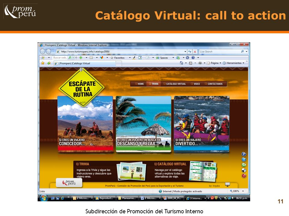 Catálogo Virtual: call to action