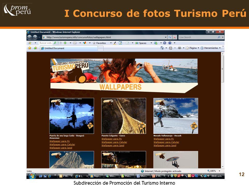 I Concurso de fotos Turismo Perú