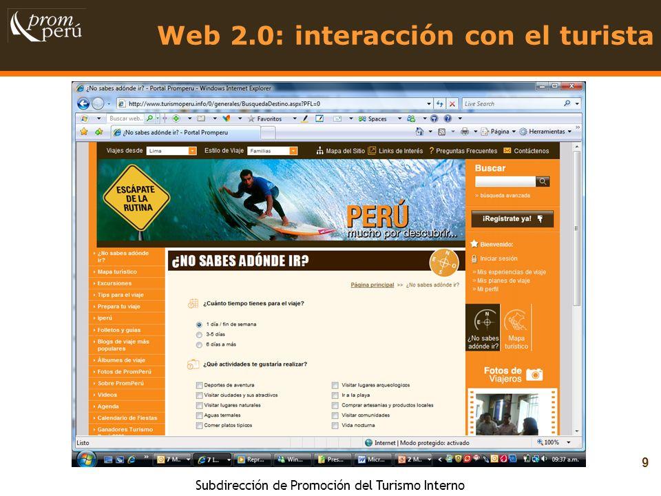 Web 2.0: interacción con el turista