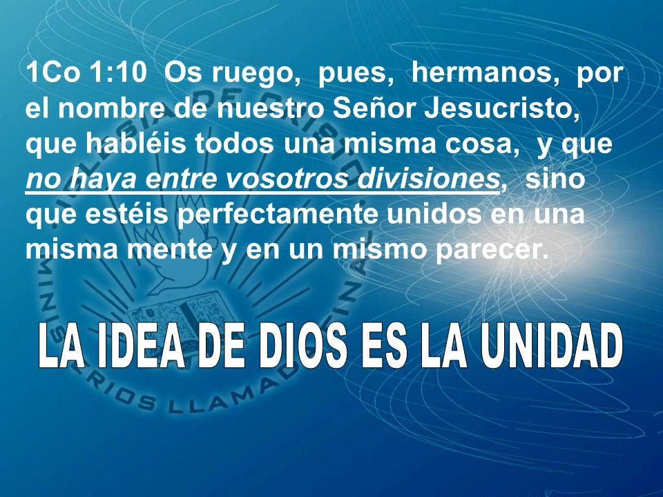LA IDEA DE DIOS ES LA UNIDAD