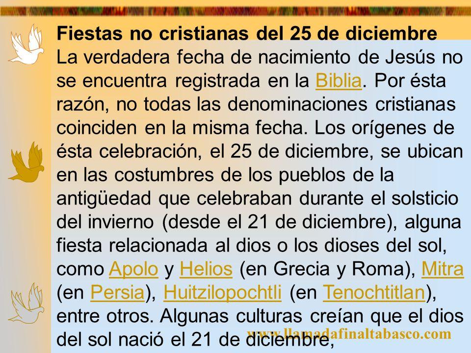 Fiestas no cristianas del 25 de diciembre
