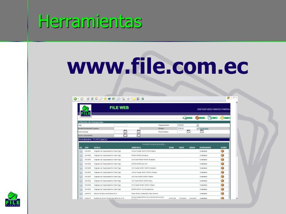 Herramientas www.file.com.ec