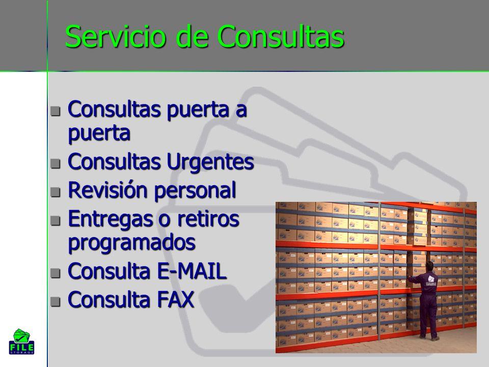 Servicio de Consultas Consultas puerta a puerta Consultas Urgentes