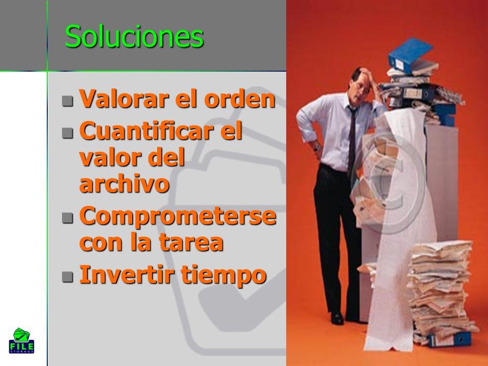 Soluciones Valorar el orden Cuantificar el valor del archivo