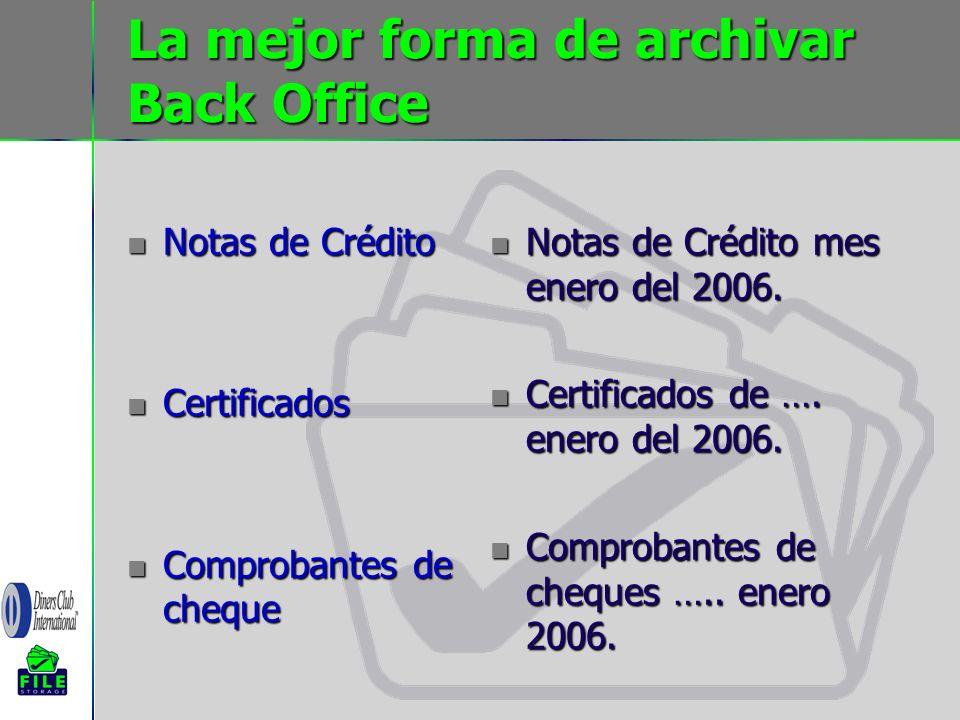 La mejor forma de archivar Back Office
