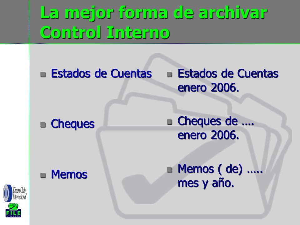 La mejor forma de archivar Control Interno