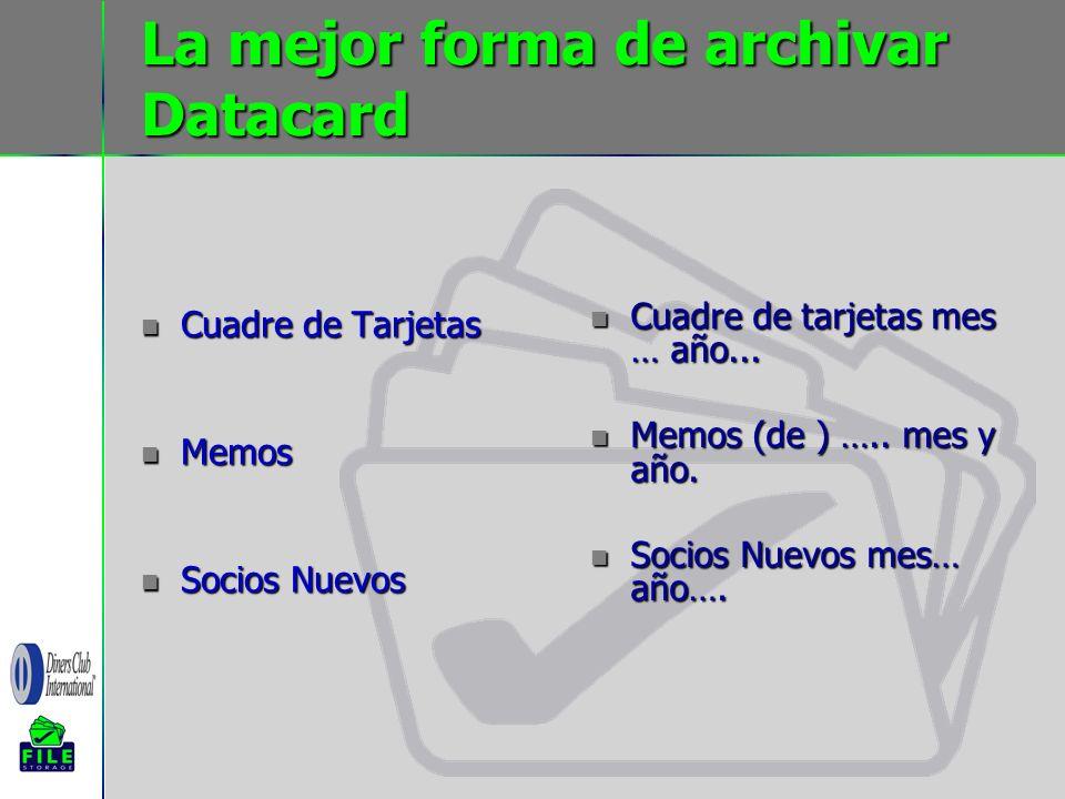 La mejor forma de archivar Datacard