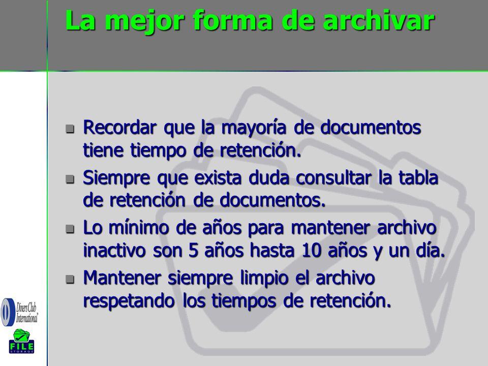 La mejor forma de archivar