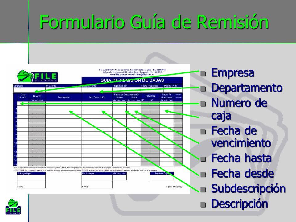 Formulario Guía de Remisión