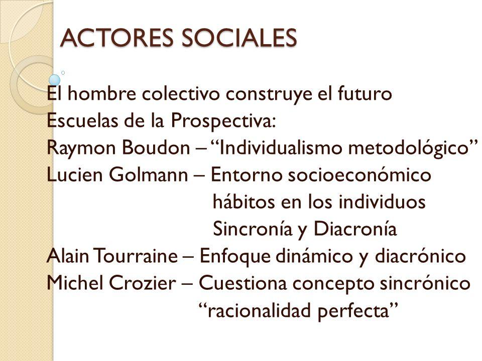 ACTORES SOCIALES El hombre colectivo construye el futuro
