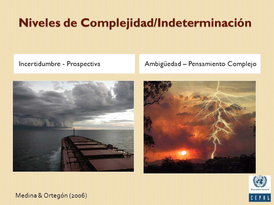 Niveles de Complejidad/Indeterminación