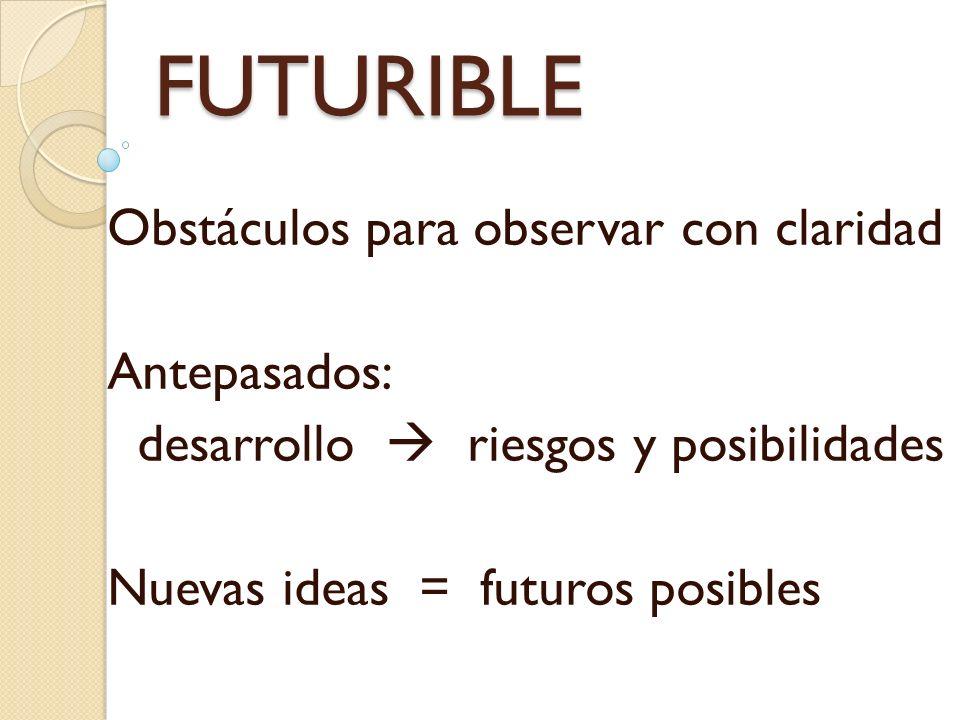 FUTURIBLE Obstáculos para observar con claridad Antepasados: