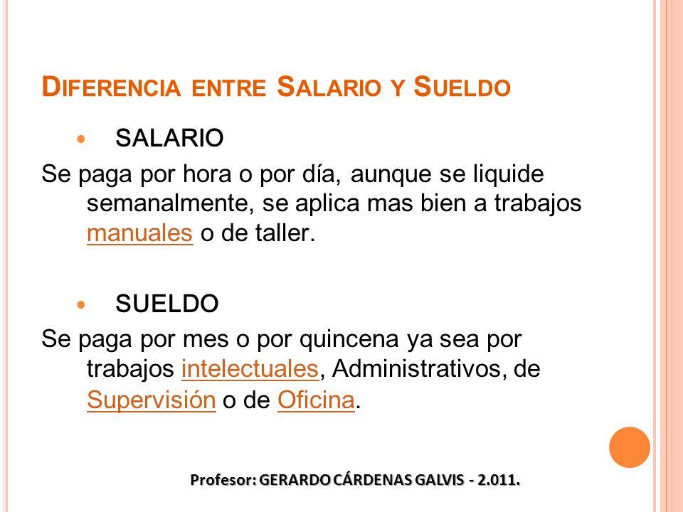 Diferencia entre Salario y Sueldo