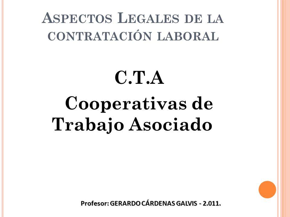 Aspectos Legales de la contratación laboral
