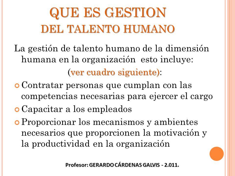 QUE ES GESTION del talento humano