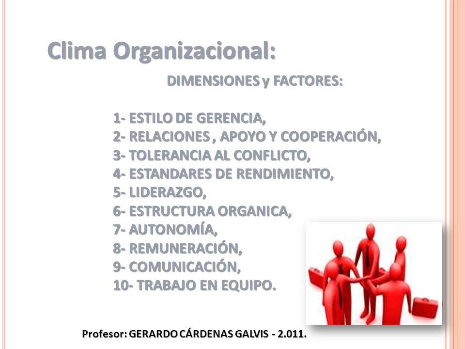 DIMENSIONES y FACTORES: Profesor: GERARDO CÁRDENAS GALVIS - 2.011.